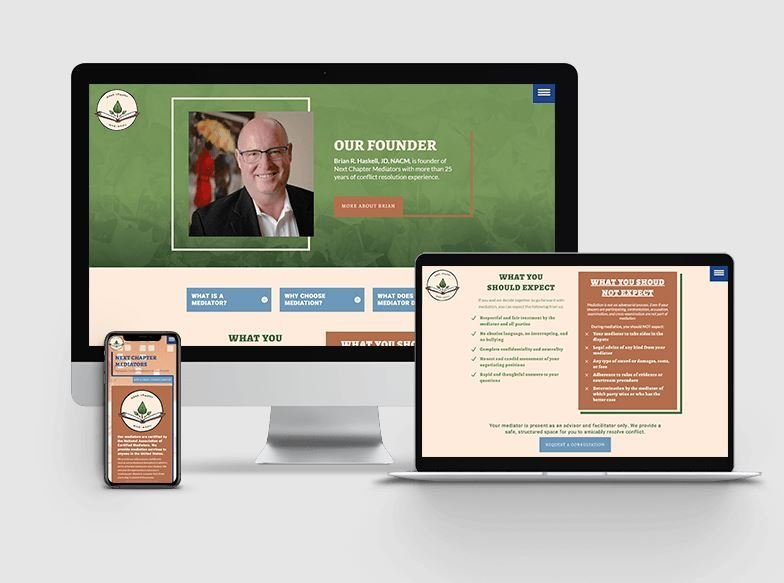 Lamplight Creatives Next Chapter Mediators Website Developers Corvallis OR