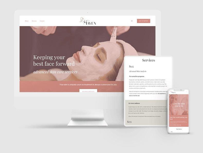 Lamplight Creatives Skin Maven Website Development Corvallis OR