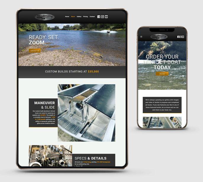 Lamplight Creatives Torch Craft Marine Website Development
